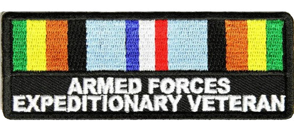 ARMED FORCES EXPEDITIONARY VETERAN WITH RIBBON Patch