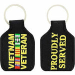VIETNAM VETERAN PROUDLY SERVED WITH CAMPAIGN RIBBONS KEY CHAIN SOUTH EAST ASIA - HATNPATCH