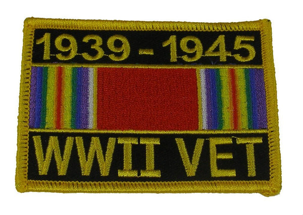 WWII VETERAN WITH RIBBON (1939-1945) PATCH