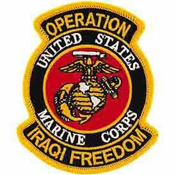 US MARINE CORPS OPERATION IRAQI FREEDOM PATCH - Bright Colors - Veteran Owned Business.