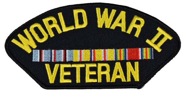 WORLD WAR 2 TWO II WWII VETERAN PACIFIC RIBBONS PATCH - Veteran Owned Business - HATNPATCH