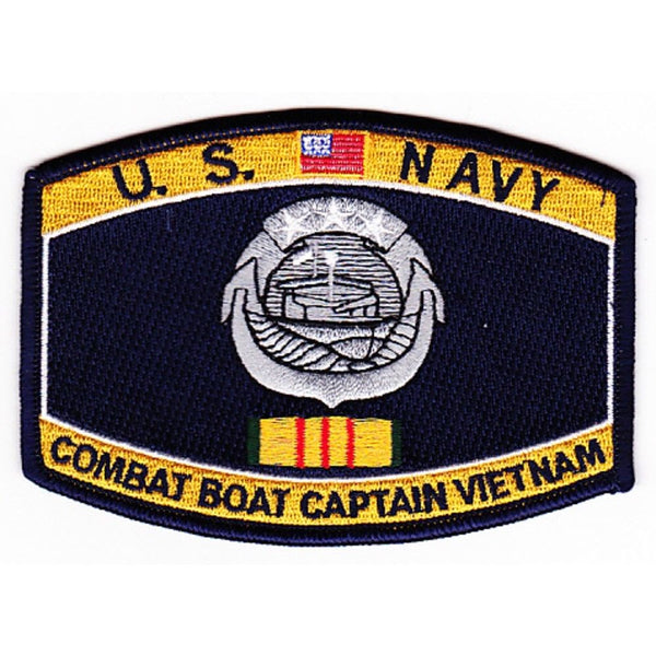 USN NAVY WEAPONS SPECIALITY RATING COMBAT BOAT CAPTAIN VIETNAM SERVICE PATCH - HATNPATCH