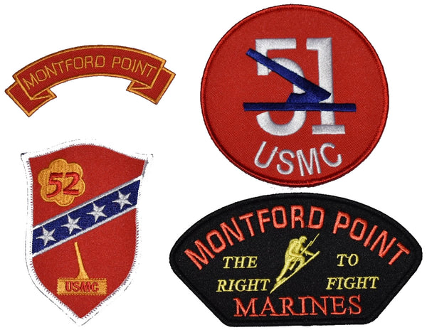 MONTFORD POINT MARINES 4 PATCH GIFT SET - Multi-colored - HATNPATCH