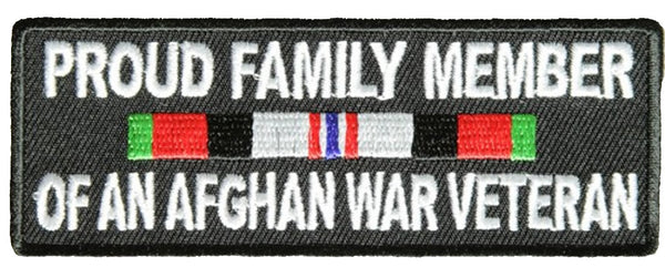 PROUD FAMILY MEMBER OF AN AFGHAN WAR VETERAN WITH RIBBON Patch - HATNPATCH