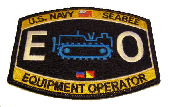 U.S. NAVY SEABEE EQUIPMENT OPERATOR EO PATCH - HATNPATCH
