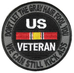 DON'T LET THE GRAY HAIR FOOL YOU NATIONAL DEFENSE RIBBON PATCH