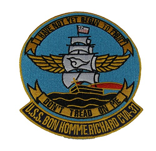 USS BON HOMME RICHARD CV-31 SHIP PATCH - Multi-colored - Veteran Owned Business