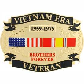 VIETNAM ERA VETERAN - Cast Belt Buckle - HATNPATCH