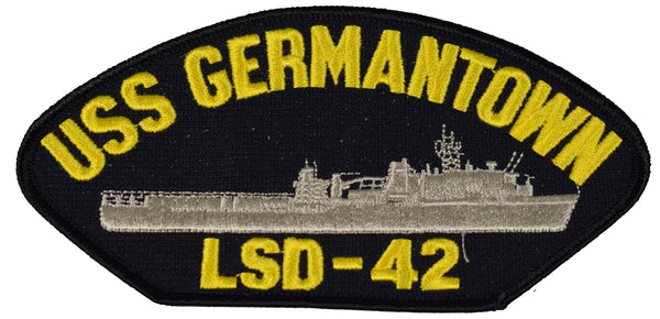 USS GERMANTOWN LSD-42 SHIP PATCH - GREAT COLOR - Veteran Owned Business
