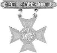 USMC PISTOL SHARPSHOOTER BADGE HAT PIN - HATNPATCH