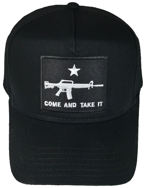 COME AND TAKE IT WITH AR-15 RIFLE HAT - HATNPATCH