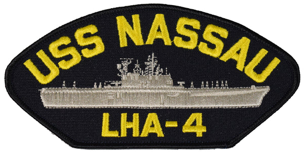 USS NASSAU LHA-4 SHIP PATCH - GREAT COLOR - Veteran Owned Business