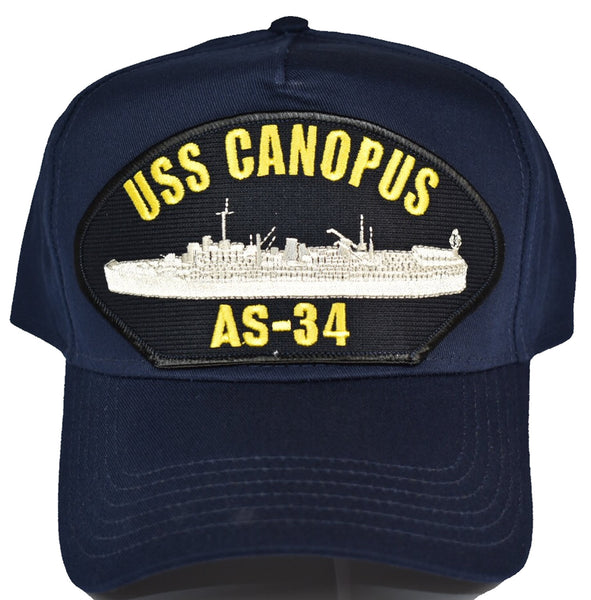 USS CANOPUS AS-34 Hat - NAVY BLUE - Found per customer request! Ask Us! - HATNPATCH