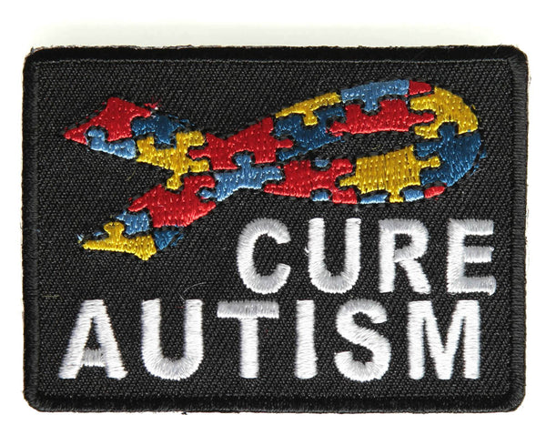 CURE AUTISM WITH RIBBON PATCH - HATNPATCH