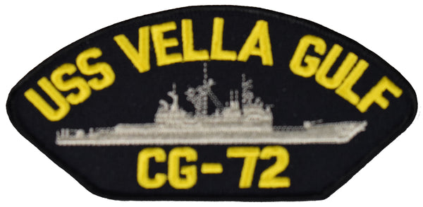 USS VELLA GULF CG-72 SHIP PATCH - GREAT COLOR - Veteran Owned Business
