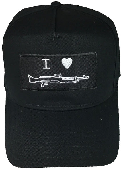 I LOVE (HEART) MACHINE GUN HAT