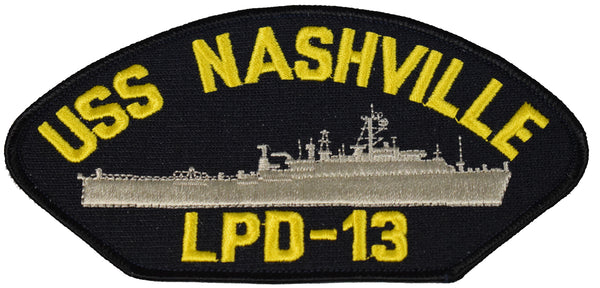 USS NASHVILLE LPD-13 SHIP PATCH - GREAT COLOR - Veteran Owned Business