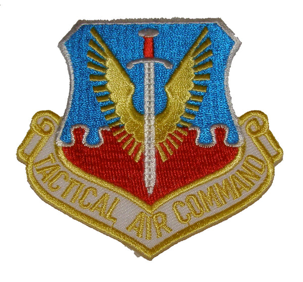 US AIR FORCE TACTICAL AIR COMMAND - TAC SHIELD - YELLOW LETTERING - SHOULDER PATCH - Great Colors - Veteran Owned Business - HATNPATCH