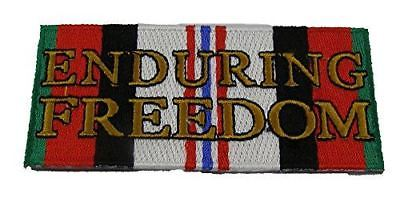 ENDURING FREEDOM SERVICE CAMPAIGN RIBBON PATCH OPERATION OEF AFGHANISTAN VETERAN - HATNPATCH