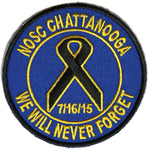 NOSC CHATTANOOGA WE WILL NEVER FORGET 7/16/15 ROUND PATCH