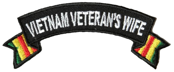 VIETNAM VETERAN'S WIFE ROCKER PATCH