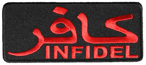 INFIDEL PATCH - RED/BLACK - HATNPATCH