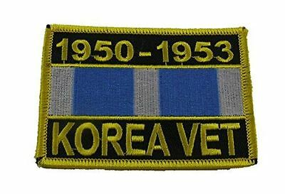 KOREA VET 1950-53 W/ KOREAN WAR SERVICE RIBBON PATCH DMZ 38TH PARALLEL