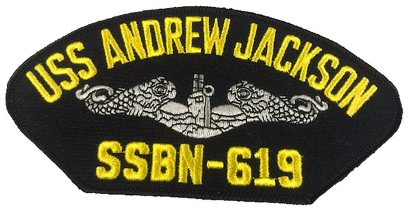 USS Andrew Jackson SSBN-619 Ship Patch - Great Color - Veteran Owned Business
