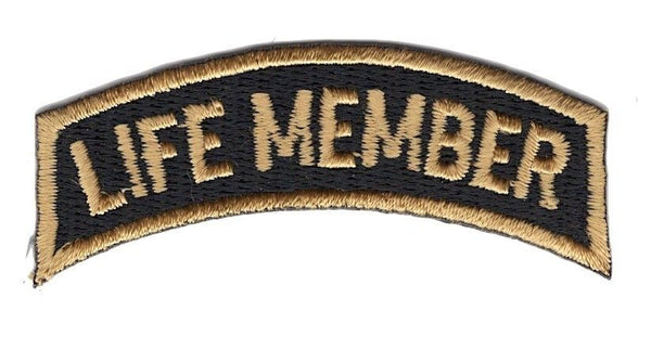 LIFE MEMBER TOP ROCKER PATCH VETERAN BIKER MOTORCYCLE CLUB