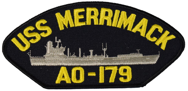 USS MERRIMACK AO-179 SHIP PATCH - GREAT COLOR - Veteran Owned Business