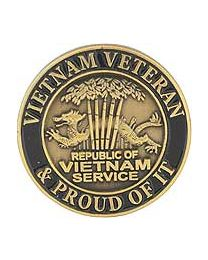 Vietnam Vet and Proud Of It Pin - HATNPATCH