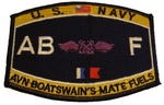 USN NAVY ABF AVIATION BOATSWAIN'S MATE FUELS MOS RATING PATCH SAILOR VETERAN