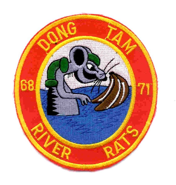 DONG TAM RIVER RATS VIETNAM PATCH SWIFT BOAT PBR PATROL BOAT RIVER MRF MOBILE - HATNPATCH