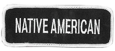 NATIVE AMERICAN PATCH INDIAN INDIGENOUS PEOPLE PERSON TRIBE TRIBAL