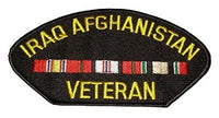 IRAQ AFGHANISTAN VETERAN W/ SERVICE RIBBONS PATCH OIF OEF ENDURING IRAQI FREEDOM - HATNPATCH