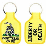 DON'T TREAD ON ME LIBERTY OR DEATH GADSDEN FLAG KEY CHAIN RATTLESNAKE TEA PARTY