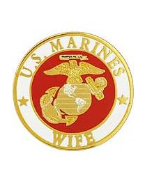 Marine Wife Round Pin