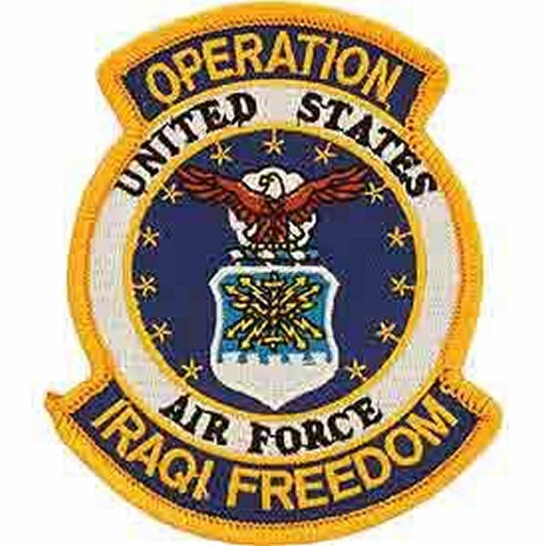 US AIR FORCE OPERATION IRAQI FREEDOM PATCH - Bright Colors - Veteran Owned Business.