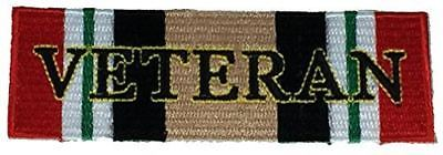 OPERATION IRAQI FREEDOM VETERAN WITH CAMPAIGN RIBBON PATCH OIF IRAQ DESERT