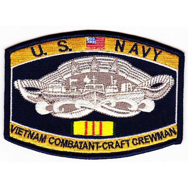 USN NAVY COMBAT BOAT CREW BADGE PATCH VIETNAM VETERAN PBR PATROL BOAT RIVER - HATNPATCH