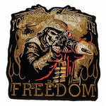YOU JUST DON'T MESS WITH FREEDOM MEDIUM BACK PATCH SKELETON HELMET RIFLE WAR
