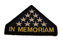 IN MEMORIAM FOLDED FLAG PATCH FALLEN REMEMBER HONOR SACRIFICE VETERAN