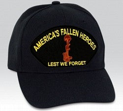 AMERICA'S FALLEN HEROES, LEST WE FORGET HAT