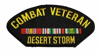 OPERATION DESERT STORM COMBAT VETERAN PATCH W/ CAMPAIGN RIBBONS ODS GULF WAR