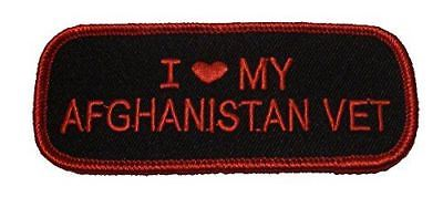 I LOVE HEART MY AFGHANISTAN VET PATCH OEF OPERATION ENDURING FREEDOM SUPPORT