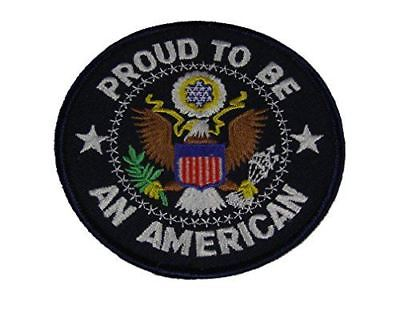 PROUD TO BE AN AMERICAN W/ SEAL OF THE UNITED STATES PATCH EAGLE PATRIOT - HATNPATCH