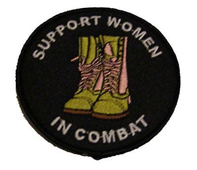 SUPPORT WOMEN IN COMBAT PATCH FEMALE MILITARY ARMY NAVY AIR FORCE MARINE VETERAN
