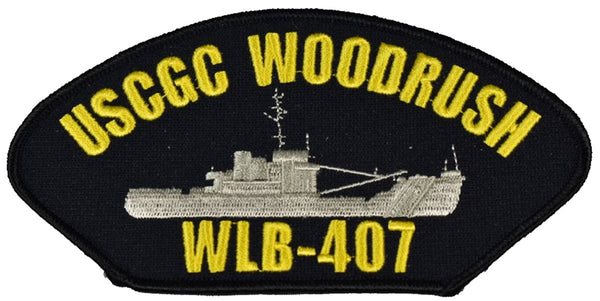 USCGC WOODRUSH WLB-407 SHIP PATCH - GREAT COLOR