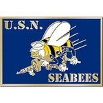 U.S.N. Seabees Cast Belt Buckle - HATNPATCH