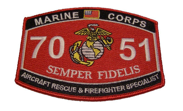 Marine Corps 7051 Aircraft Rescue and Firefighter MOS Patch